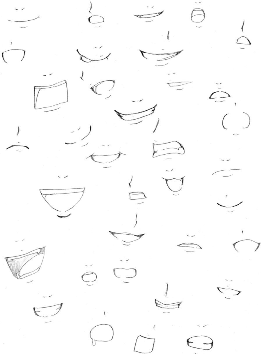 Just Some Basic Mouth Expressions Boca Manga Desenhos Boca