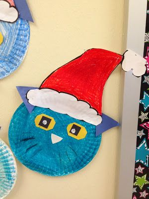 Paper Plate Pete The Cat To Go With Pete Saves Christmas Book Red