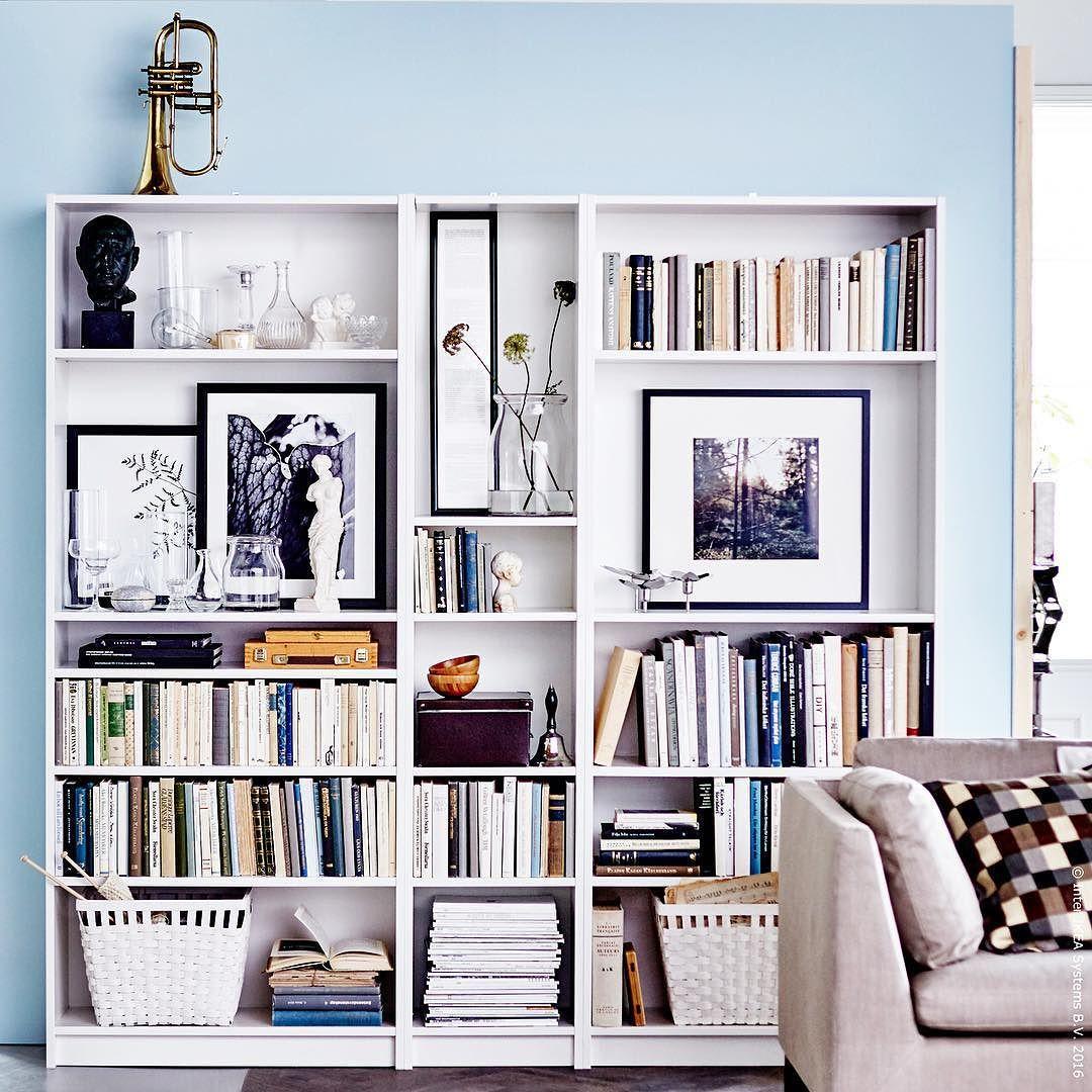 Wenn Das BILLY Regal Zur Galerie Wird Sofa Wohnzimmer