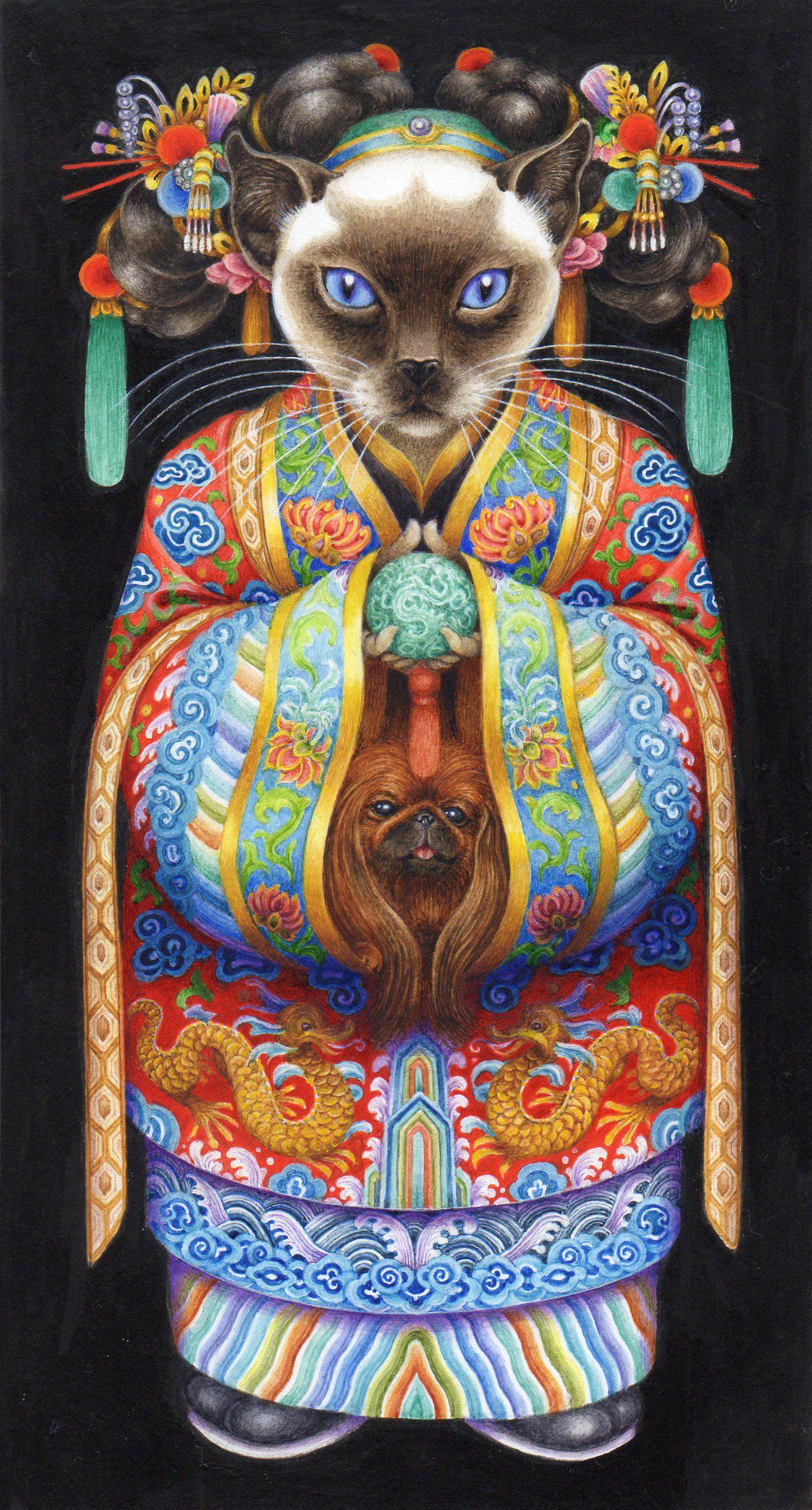 Heads And Tails Game 4 Pauline Ellison Cat Artwork Cat Art Cats Illustration