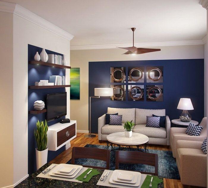 Wohnzimmer Farblich Gestalten Blau Ein Modernes Design