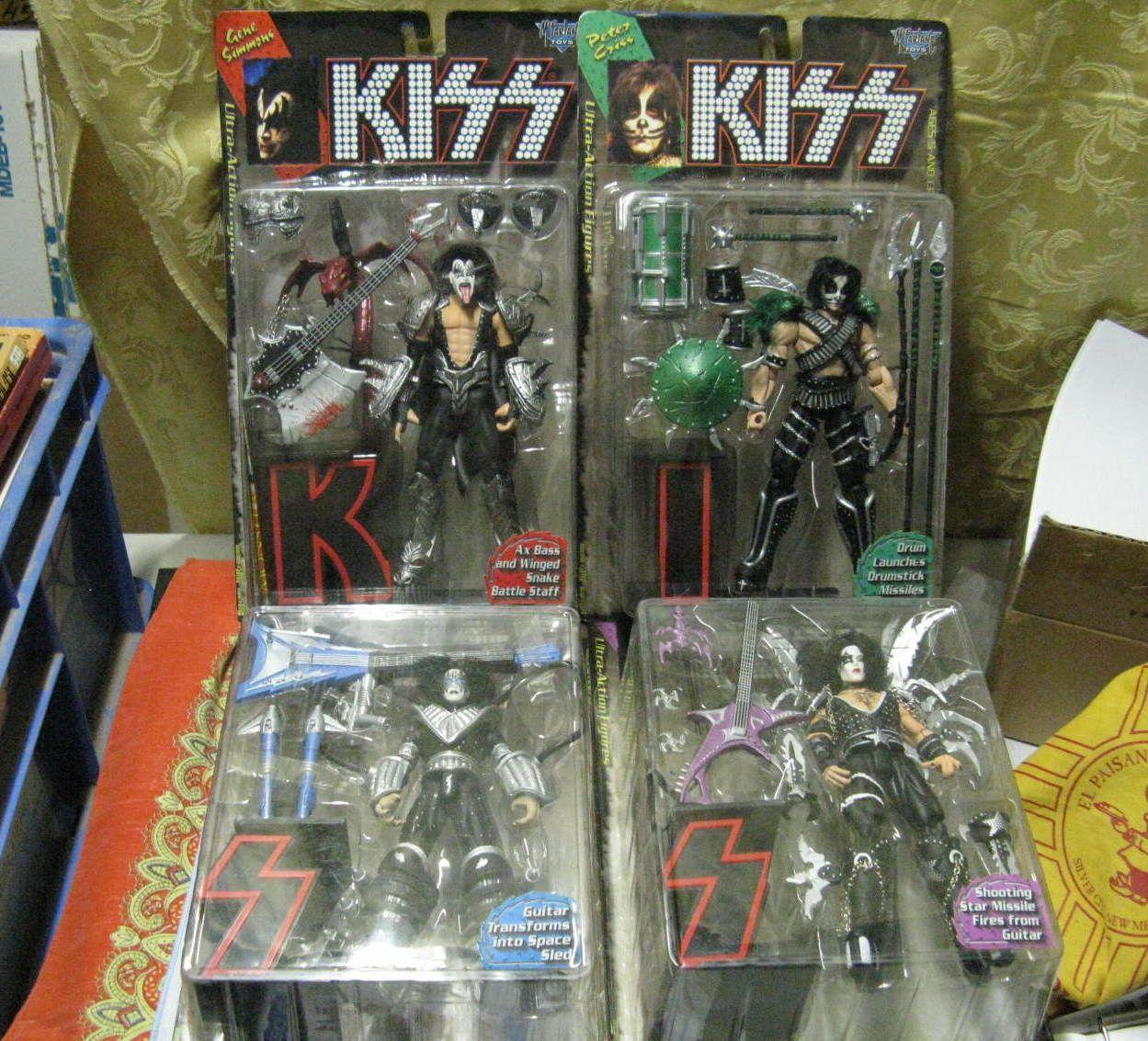 Mcfarlane Kiss Action Figure Band Members Complete Set Of 4 Mib