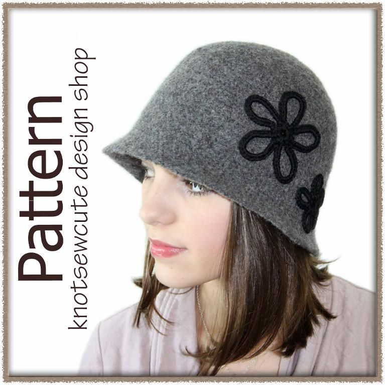 Crochet Pattern - Vintage Inspired Felted Cloche