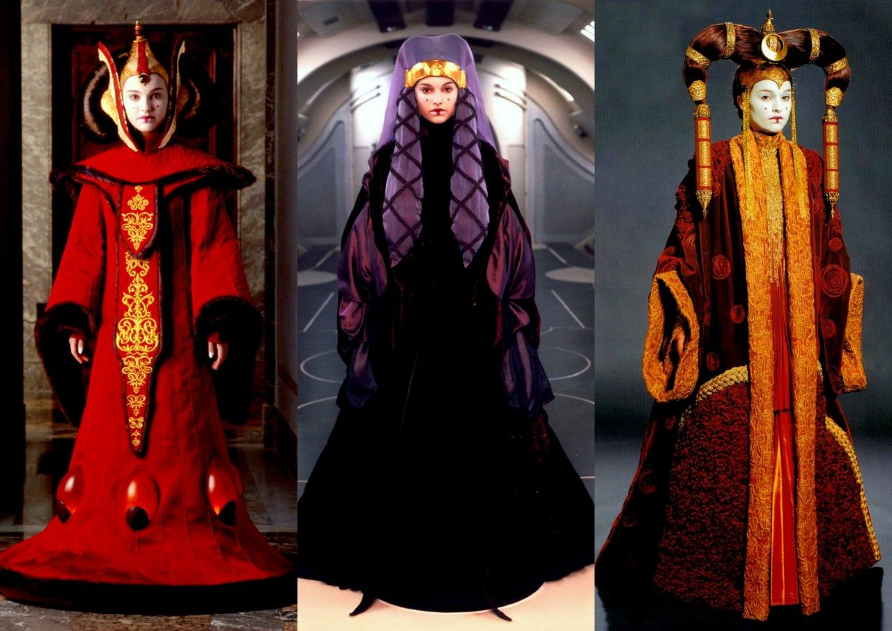 Queen amidala 39 s red invasion gown return to naboo and - Princesse amidala star wars ...