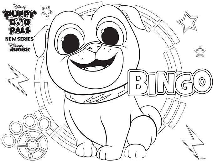 Disney Puppy Dog Pals Puppydogpals Cartoon Coloring Pages Dog