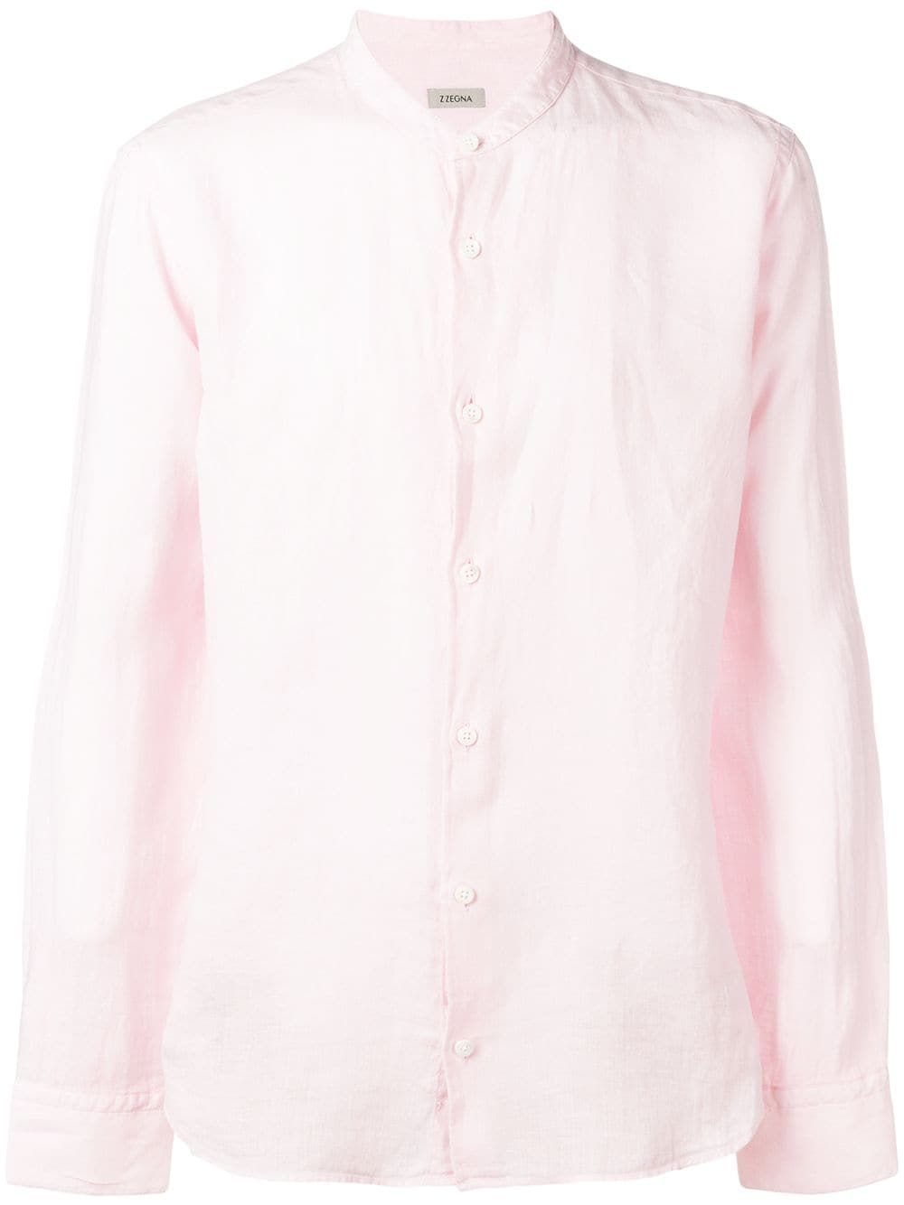 532e294a Z Zegna band collar shirt - Pink | Products in 2019 | Banded collar ...
