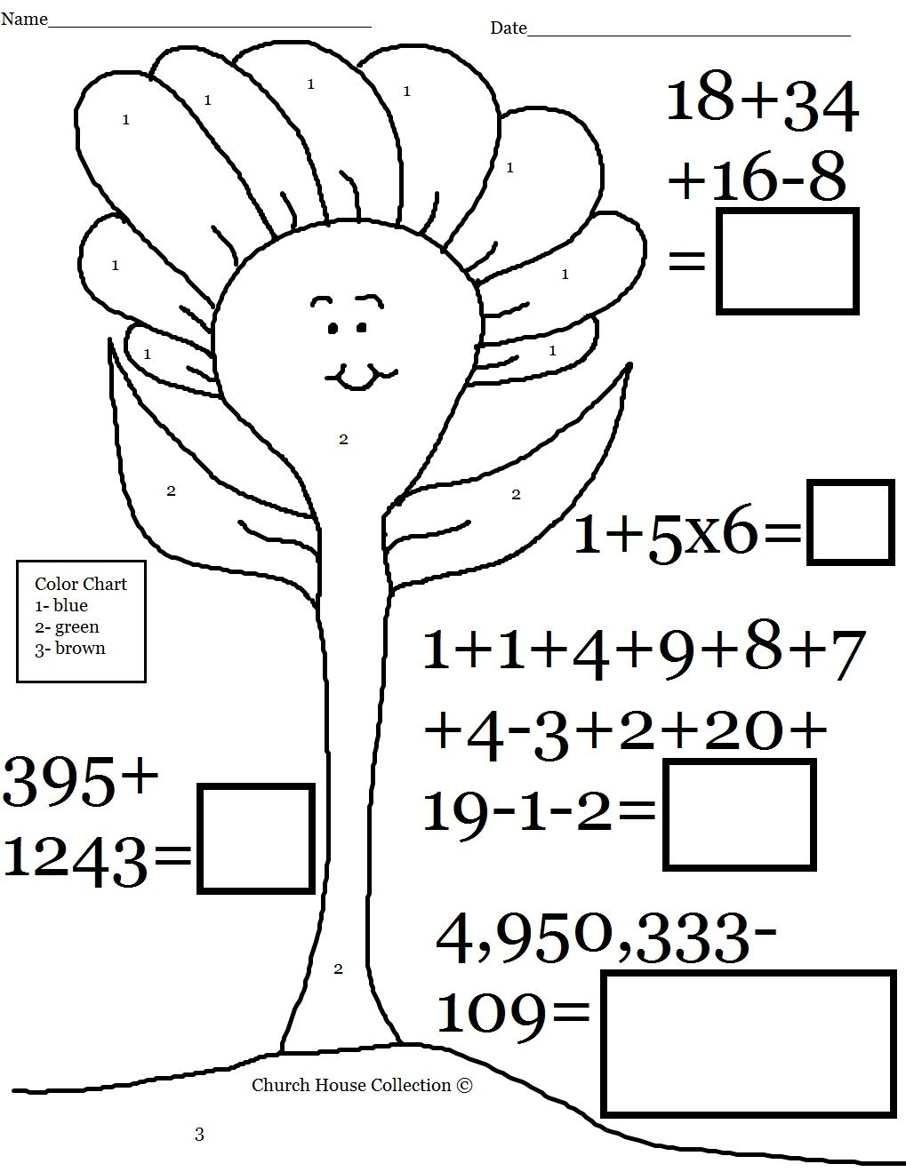 Church House Collection Blog: Easter Math Worksheets For Kids ...