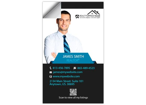 Real Estate Business Card Stickers Template 15 Business Card Stickers Real Estate Business Cards Digital Business Card Real Estate Business