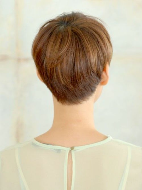 Back Of Pixie Back View Of Pixie Cut Hairstyle And Haircuts For