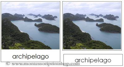 Land and Water Form Photo Cards - 10 Simple Land and Water Forms ...