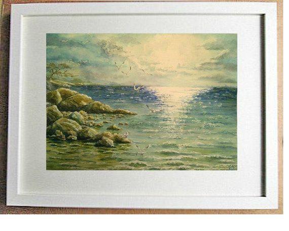 FREE SHIPPING Original watercolor painting by svetlanamatevosjan