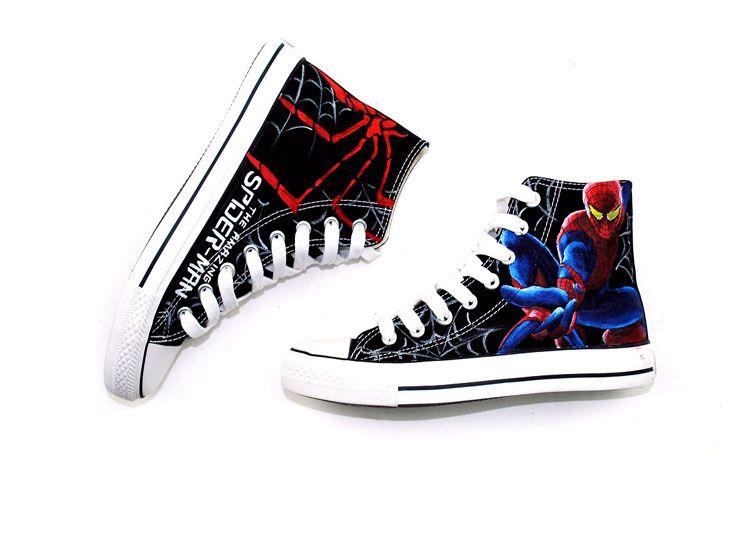 02c9674fcf82 Amazing Spider man design canvas shoes www.shoemycolor.com