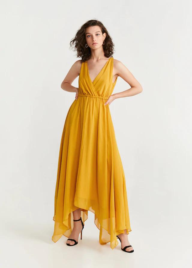 Chiffon Gown Woman Mng Australia Sifon Elbise Moda Stilleri Elbise