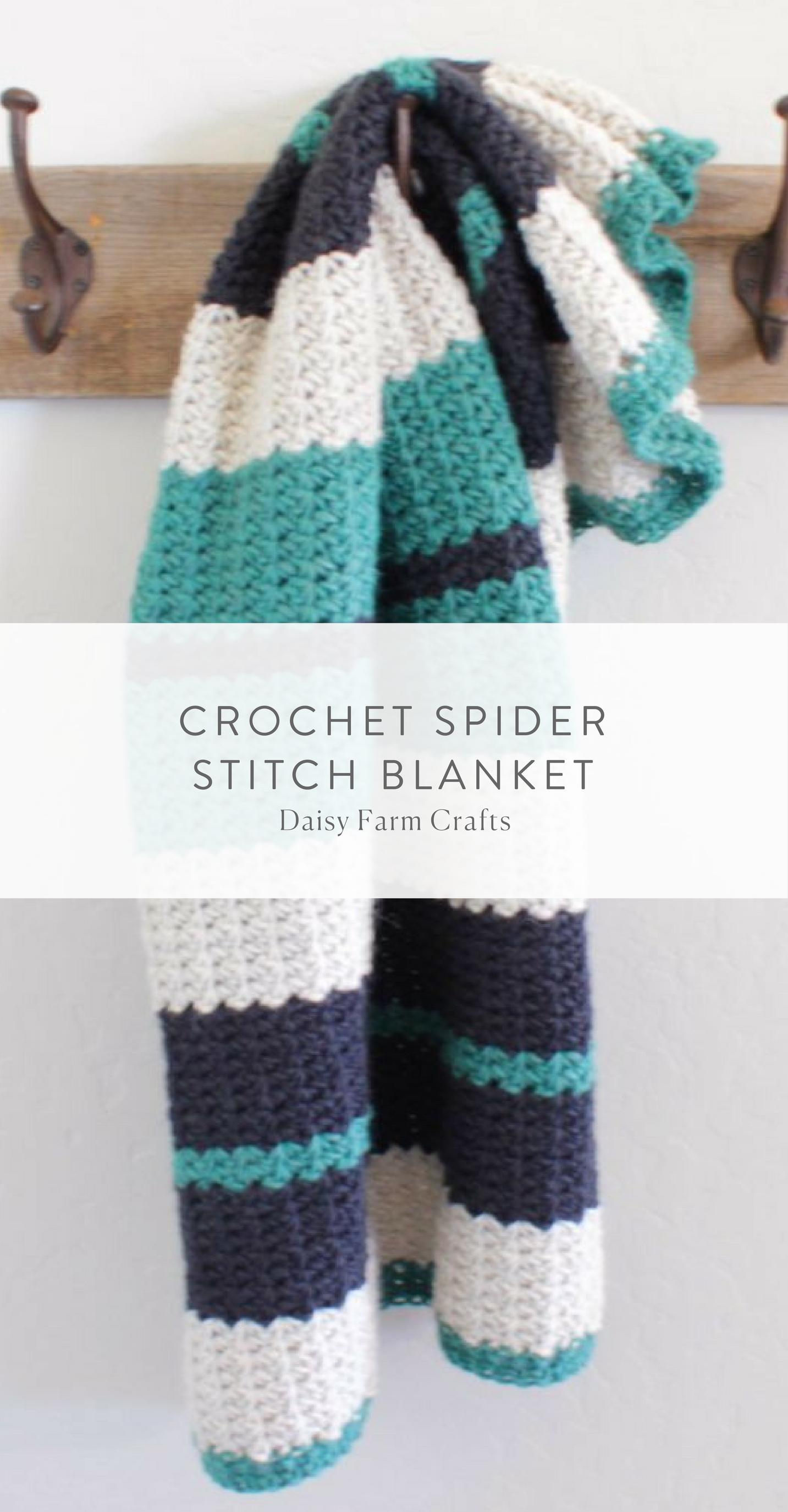 Crochet Spider Stitch Blanket   things to make   Pinterest   Manta y ...