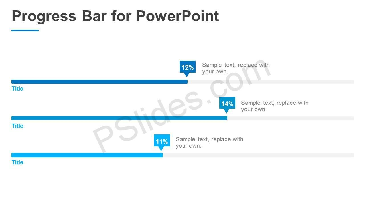 Progress Bar For Powerpoint Progress Bar Powerpoint Infographic Layout