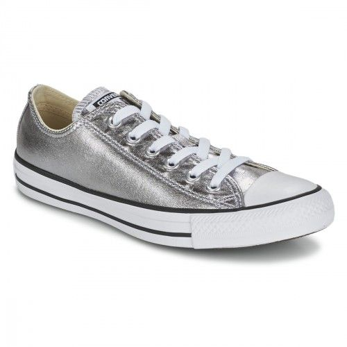 CONVERSE - ALL STAR BASSES ARGENTEES | Chaussures converse ...