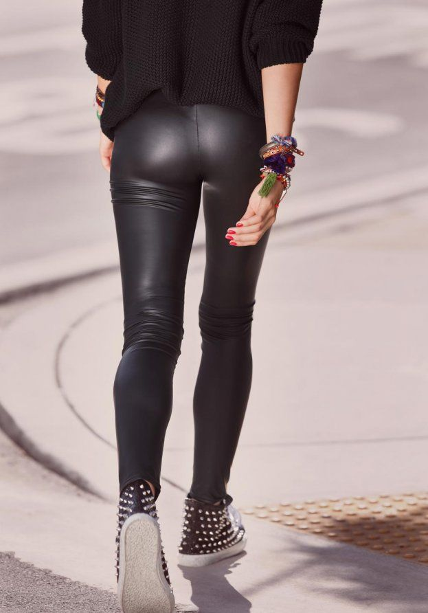 9489112a787ce1 Leather Leggings | Calzedonia | Style | Sommer kleidung, Outfit ...