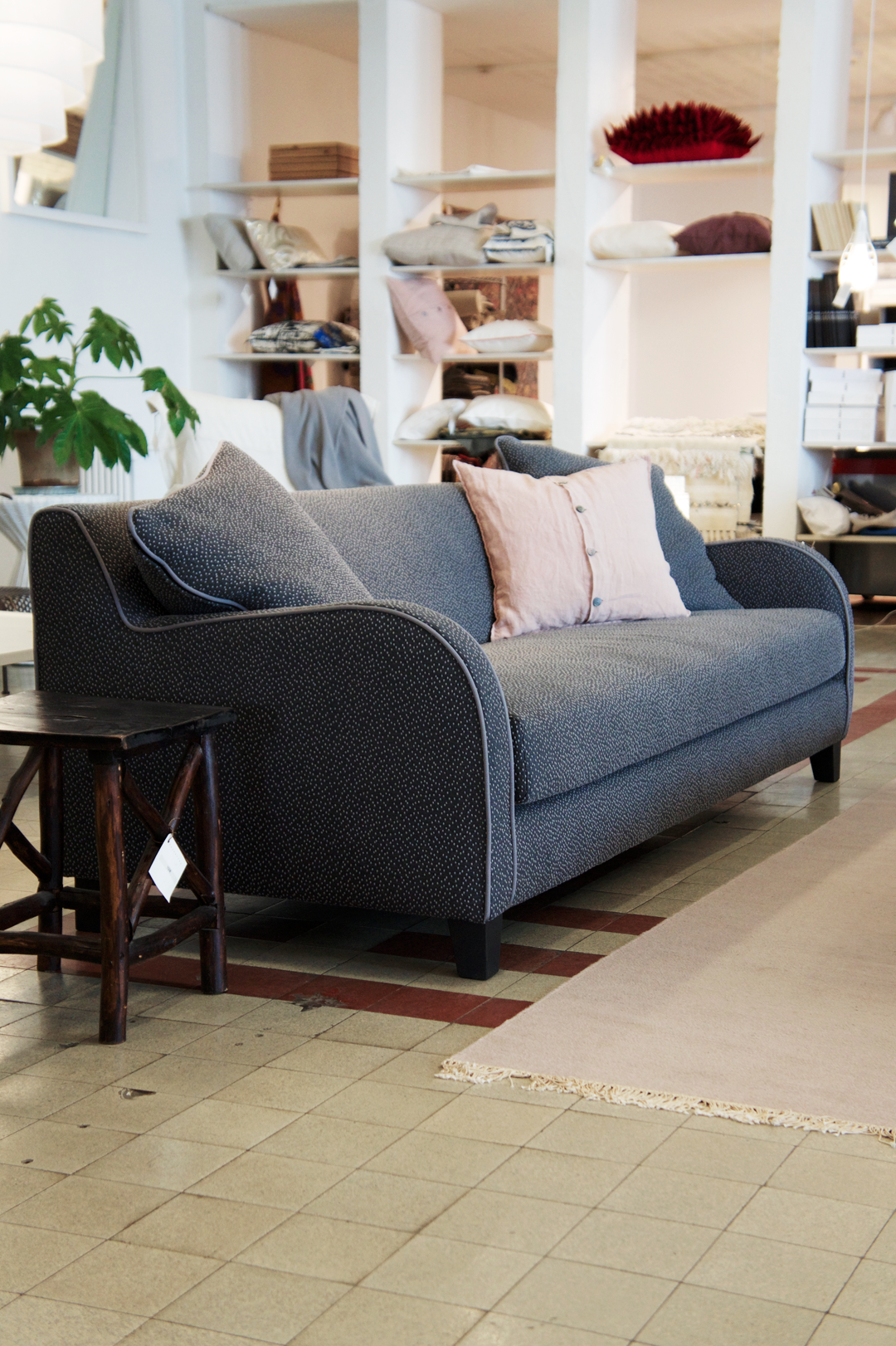 The Joyous Speckled Fabric Makes This Sofa Stand Out From Crowd