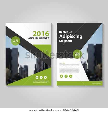 Elegance Green Black Vector Annual Report Leaflet Brochure Flyer