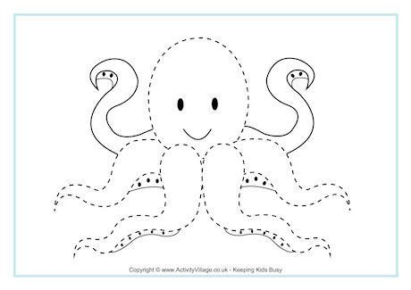 Octopus Tracing Page Alphabet Tracing Worksheets Free Printable Worksheets Tracing Worksheets
