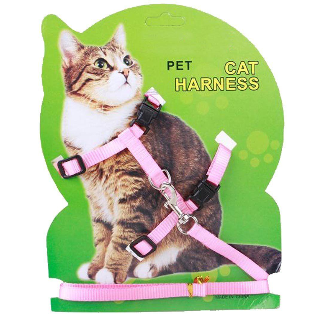 KayMark Adjustable Cat Harness and Leash Set Strap Collar