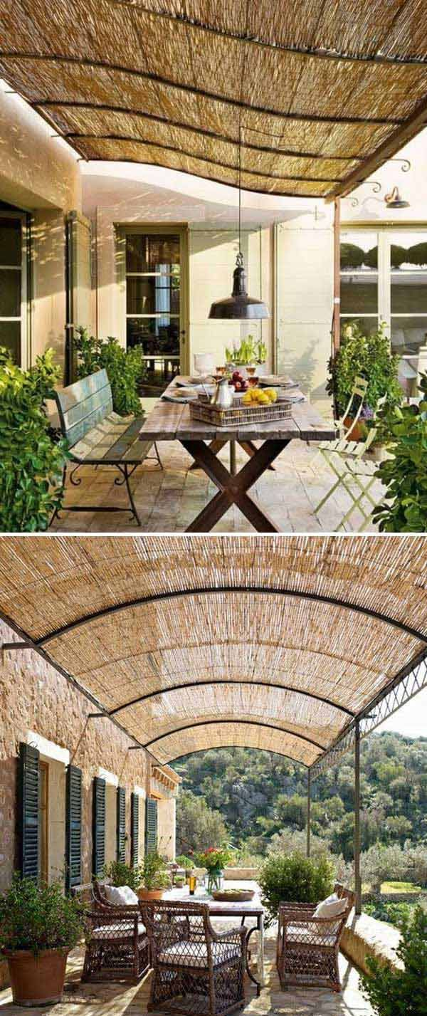 Stunning Ways to Bring Shade To Yard or Patio | Bamboo blinds ...