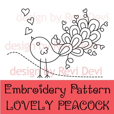 Lovely Peacock 15056 Pdf Embroidery Pattern With By Revi1001 Bird