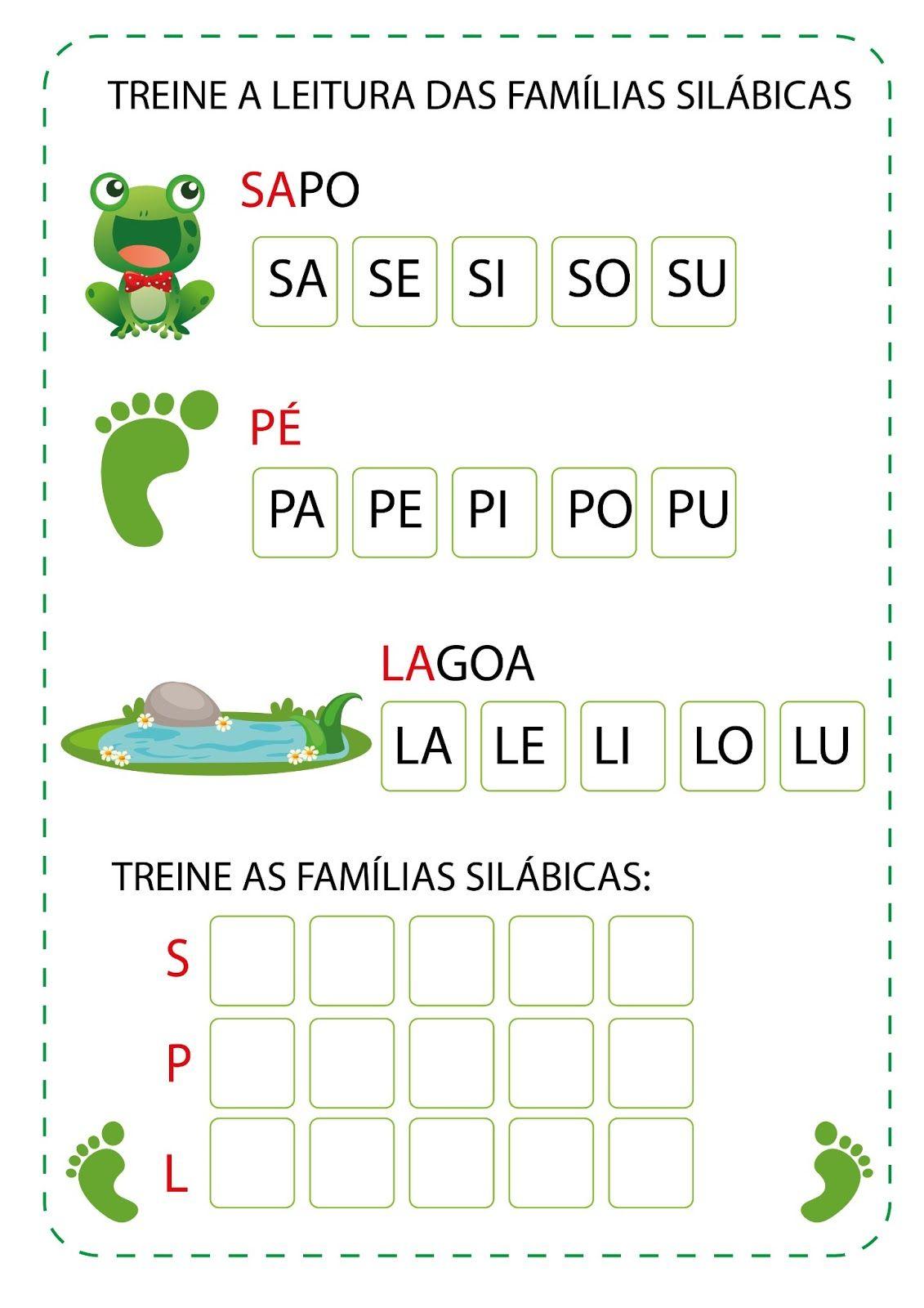 Projeto O Sapo Com Imagens Atividades Alfabetizacao E