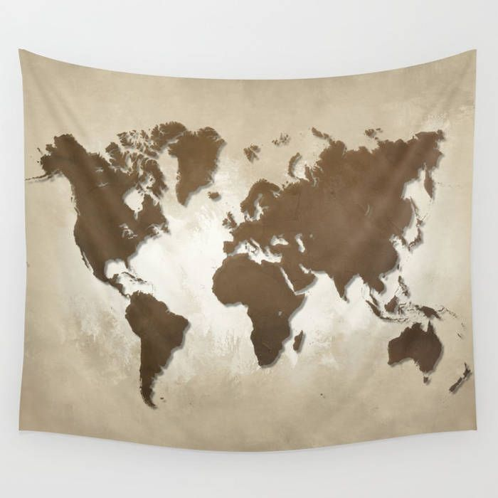Wall tapestry wall hanging sofa throw design 64 world map brown wall tapestry wall hanging sofa throw design 64 world map brown sepia home decor art l gumiabroncs Images