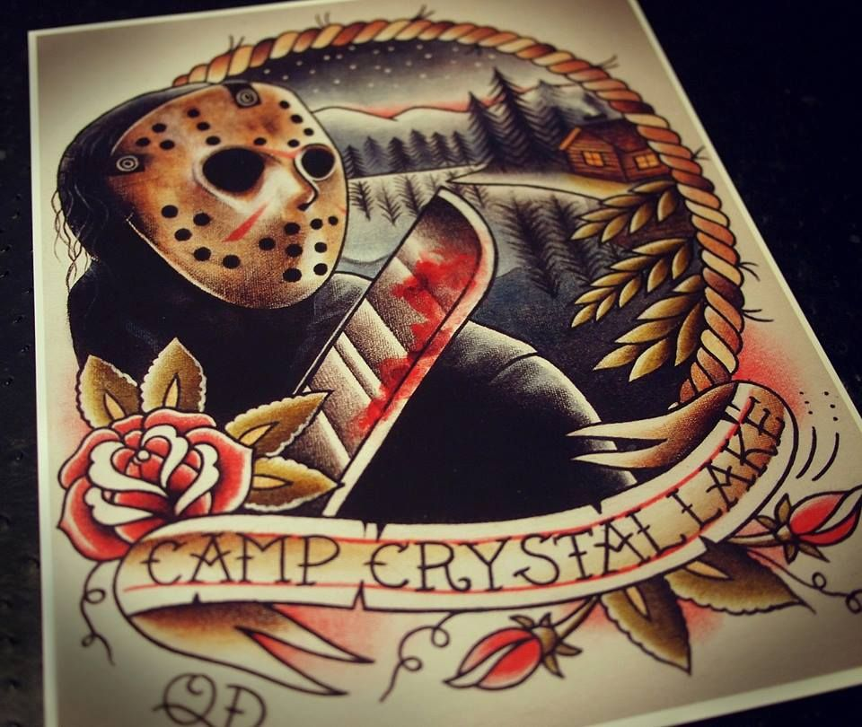 e7a57ff77 simplified flowers buds leaves Friday The 13th Tattoo, Horror Movie Tattoos,  Tattoo Sketches,