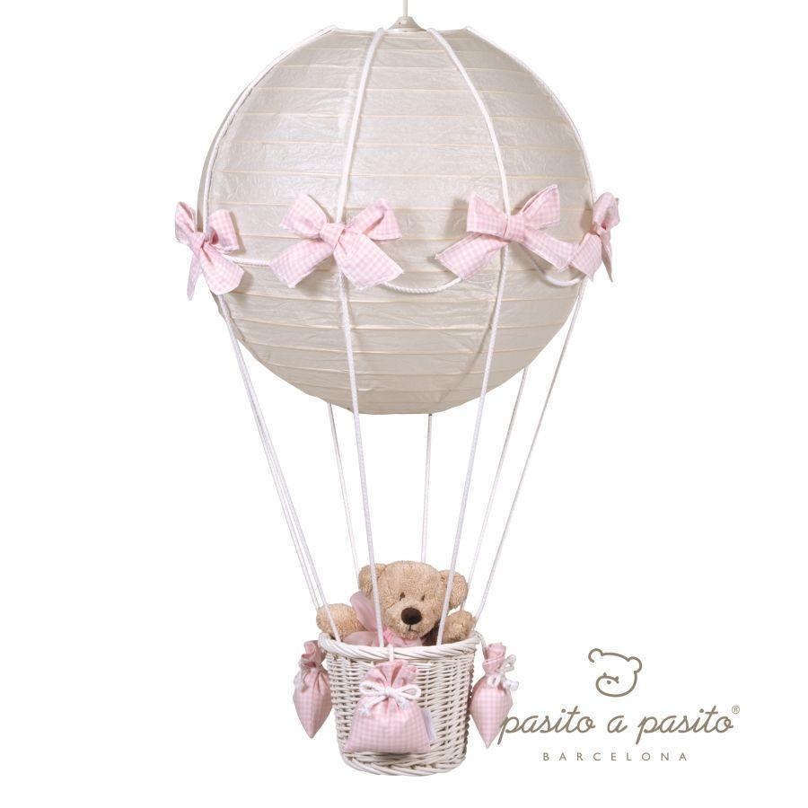 Pasito a Pasito Babyzimmerlampe Heissluft Ballon Vichy rosa bei ... | {Babyzimmer online kaufen 80}