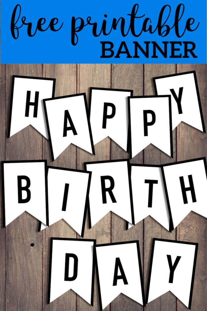 Free Happy Birthday Banner Printable Sign | Birthday Party ...