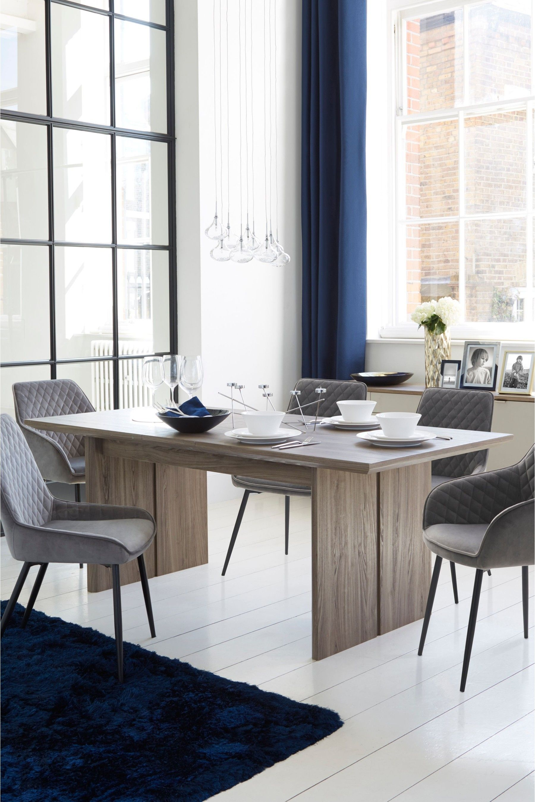 Next Modine 6 8 Seater Extending Dining Table Brown In
