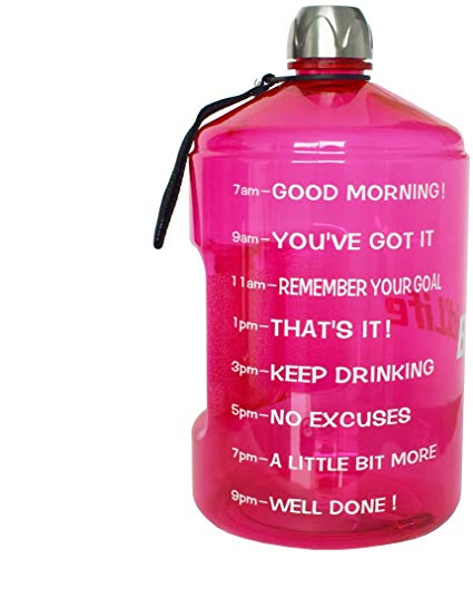 Buildlife 1 Gallon Water Bottle Motivational Fitness Workout With Time Marker Drink More Da Motivational Water Bottle Gallon Water Bottle 1 Gallon Water Bottle