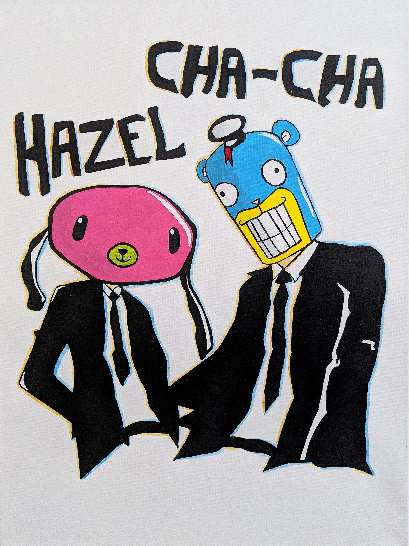 Umbrella Academy Hazel and ChaCha Original Acrylic on Canvas ...
