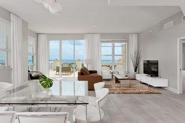 Boynton Beach Condo Before And After Contemporary Living Room