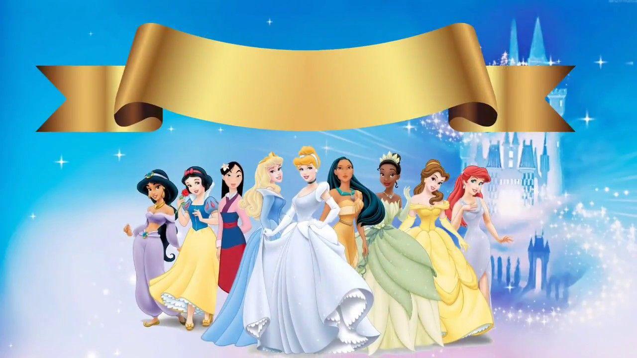 Convite Virtual Animado Tema Princesas Gratis Para Baixar E Editar