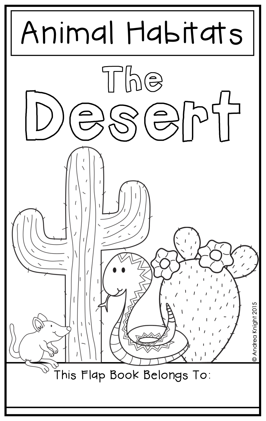 Animal Habitats The Desert {A Flap Book Project for