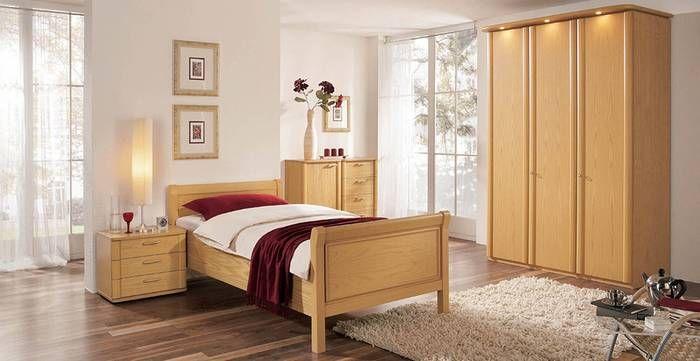 Schlafzimmer RUBIN in Eiche Natur Furnier Drehtürenschrank 3 - schlafzimmer natur
