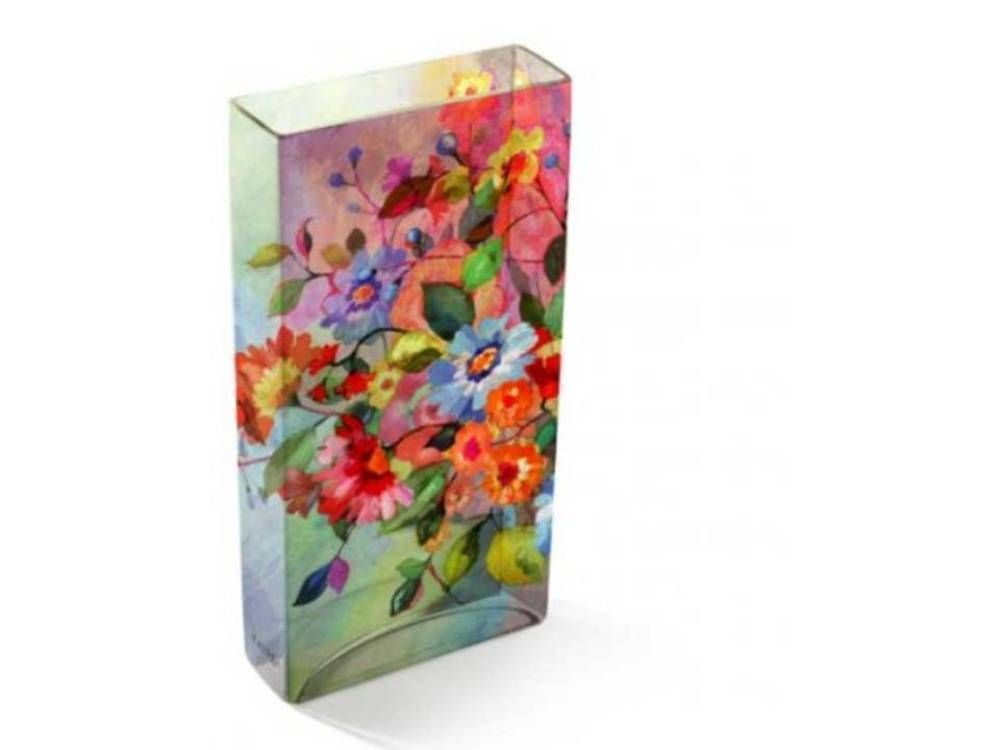 Glass Tiffany Vase Daydream By Fringe Studio Discontinued Rare
