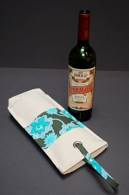 Wine Tote Wine Bottle Bag Case Carrier Holder  by RogueTheory, $25.00