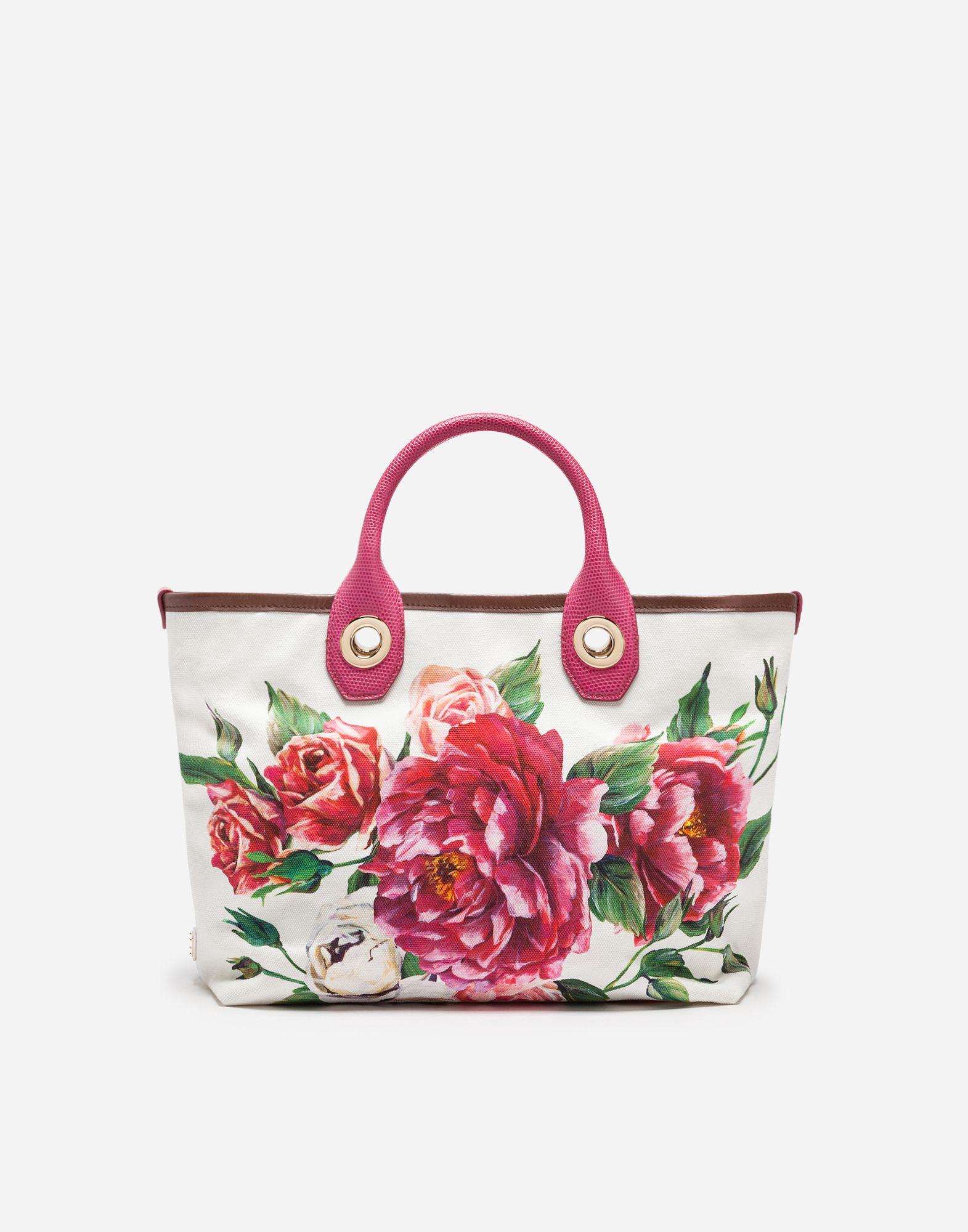4d1204406cd1 Dolce   Gabbana - Small Capri shopping bag in Peony-print canvas ...
