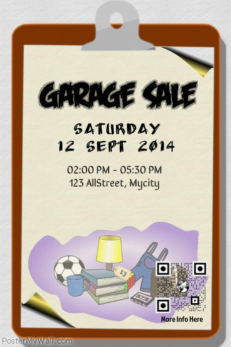 Garage Sale Flyer Template Httpwwwpostermywallcomindexphp - Save the date flyer template