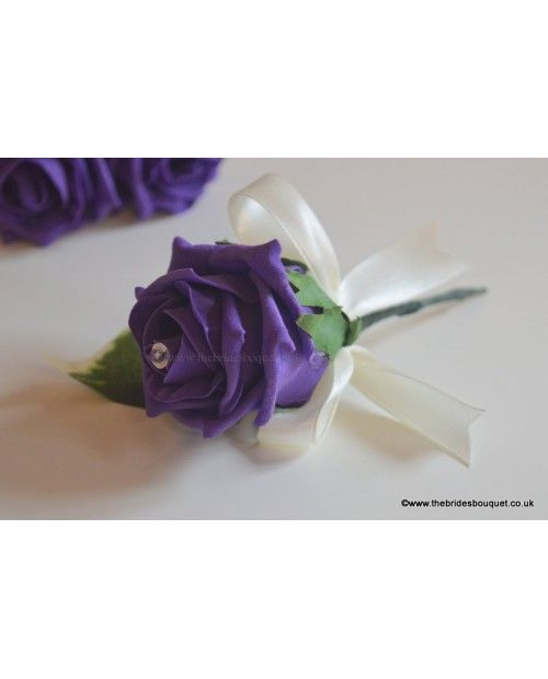 Coloured Rose Onholes Artificial Wedding Guest Corsage Any
