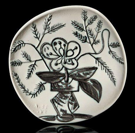 Pablo Picasso Ceramics-Vase-au-bouquet