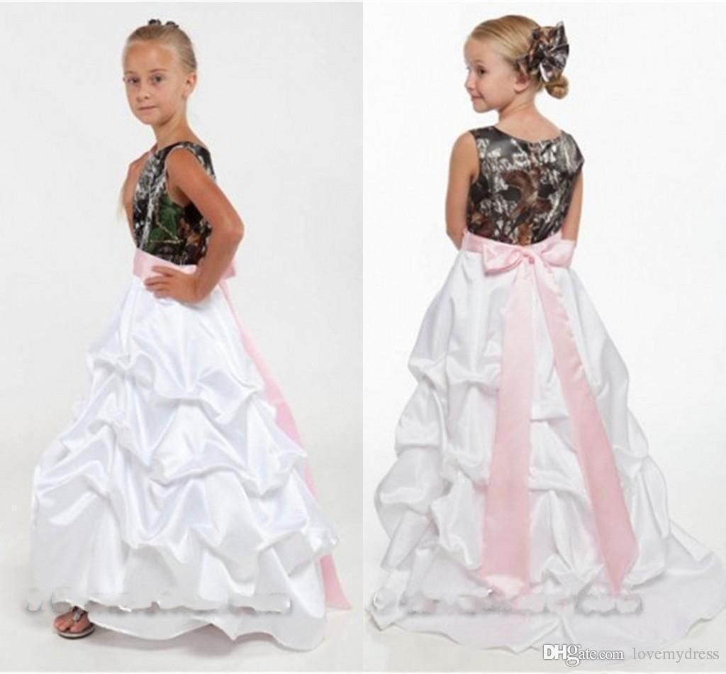 Dress for kids little girls wedding gown flowers girls dresses camo dress for kids little girls wedding gown flowers girls dresses camo pick up floor length a line jewel neck sleeveless customize cheap price izmirmasajfo