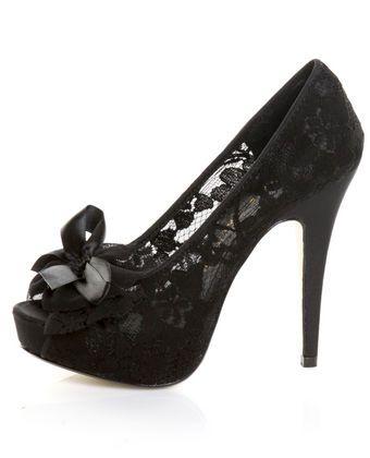 Black shoes for the black dress:)