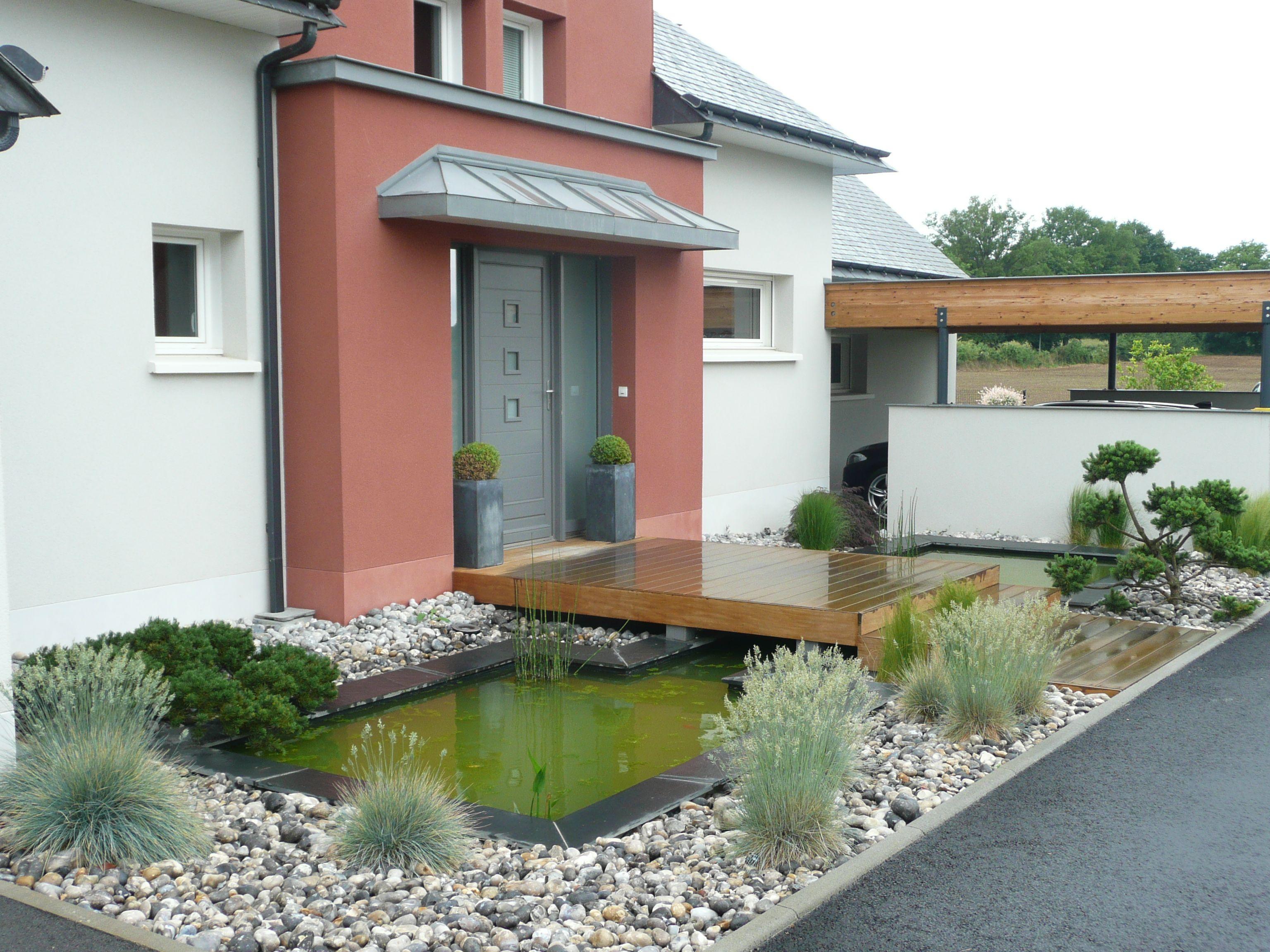 pingl par maeva enzis sur am nagement paysager devant maison deco facade maison petit. Black Bedroom Furniture Sets. Home Design Ideas