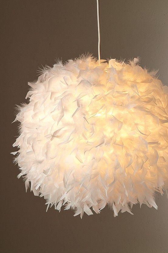 Suspension Boule En Plumes Kokot Feathers Lumieres Chambre