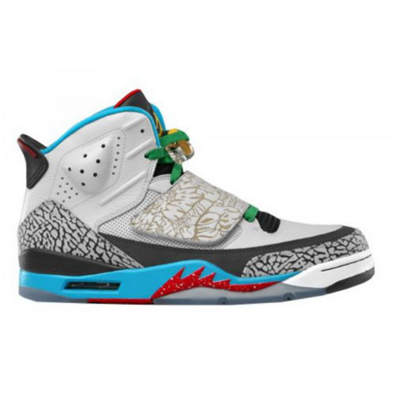 brand new 81a30 c56e8 Air Jordan Son of Mars Olympic Grey Blue Red 2012 Shoes Online